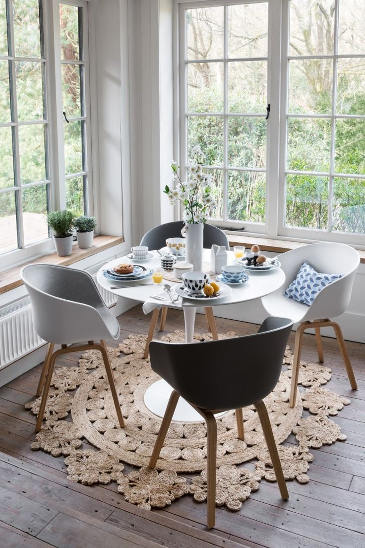 Small round kitchen table  Summertime Hygge How to Achieve a New Kind of Cozy  Corner dining