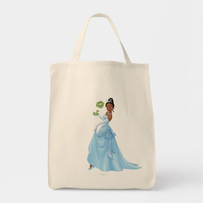 Aurora Princess Floral Cotton Fabric Tote Bag Made to Order