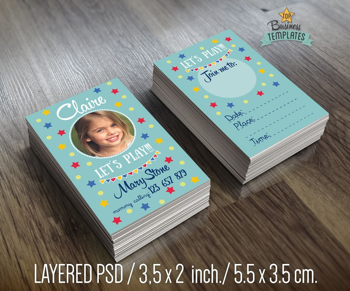 Mommy Calling Business Cards for Kids, Children Business Card ...