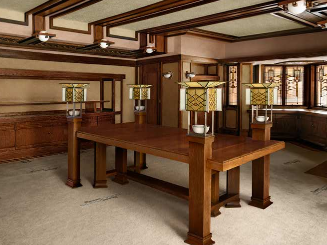 Robie House Interior   Google Search Built In Furniture, Pool Table, House  Interiors,