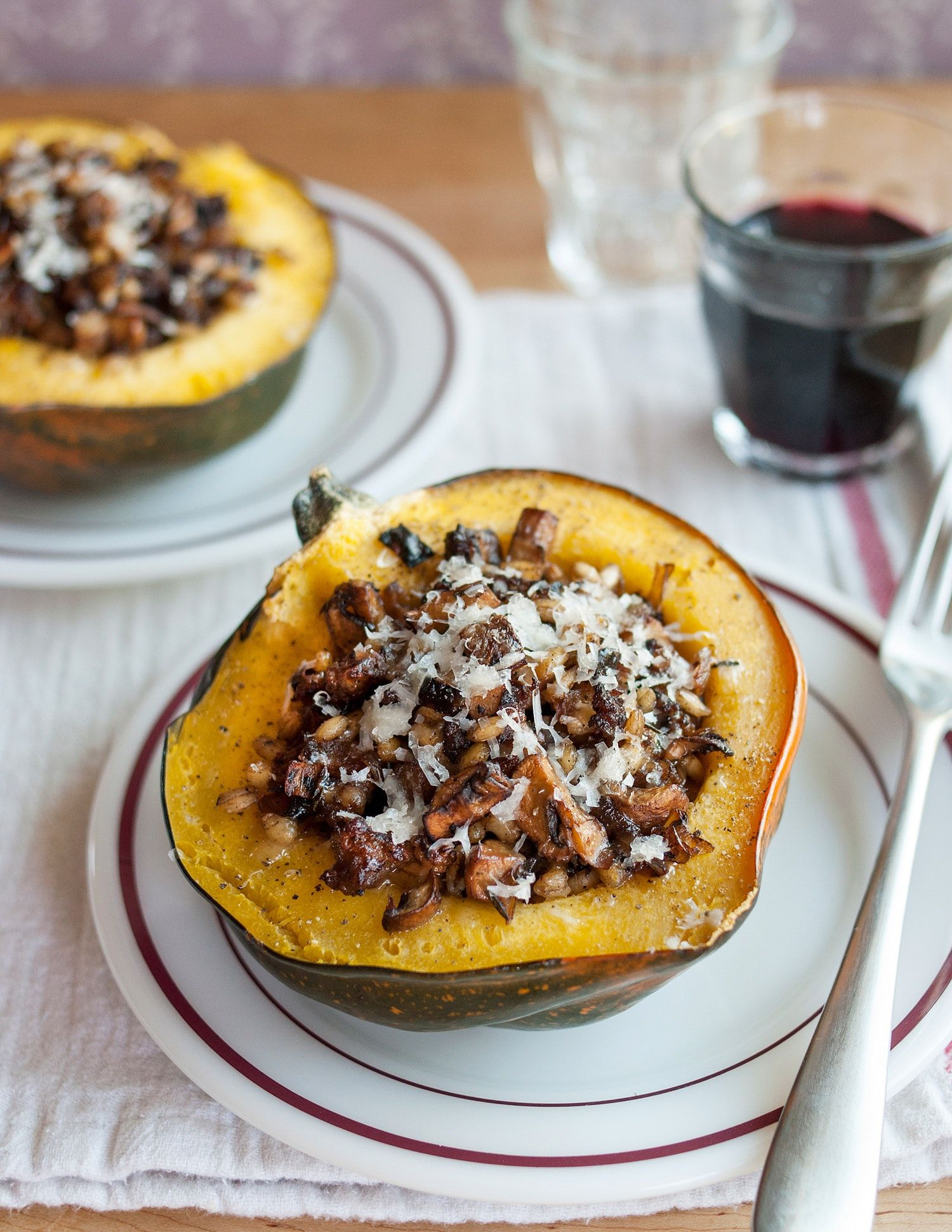 How To Make Stuffed Roasted Squash Recipe Food Recipes