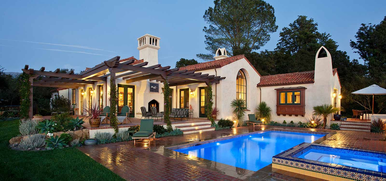 Allen construction new hope ranch spanish colonial for Ranch style beach house