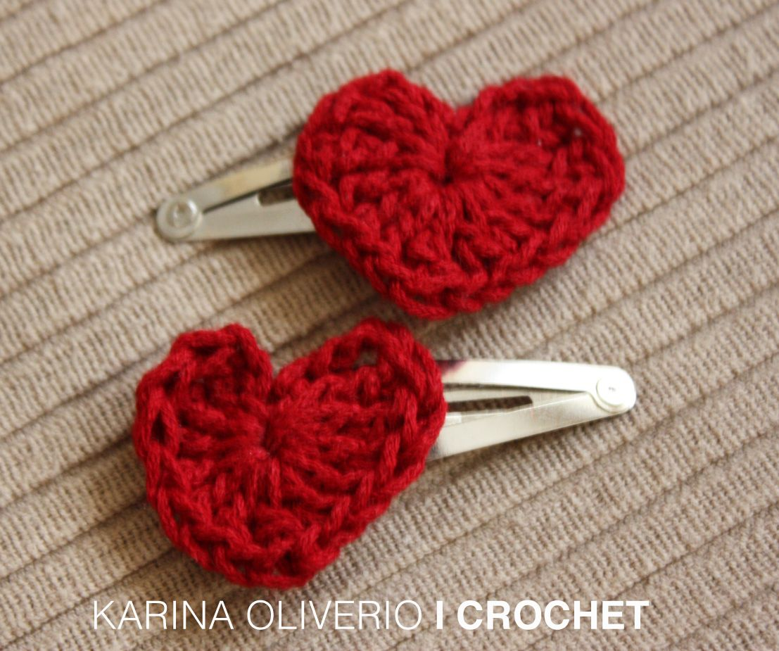 Crochet hair clip, hand made.