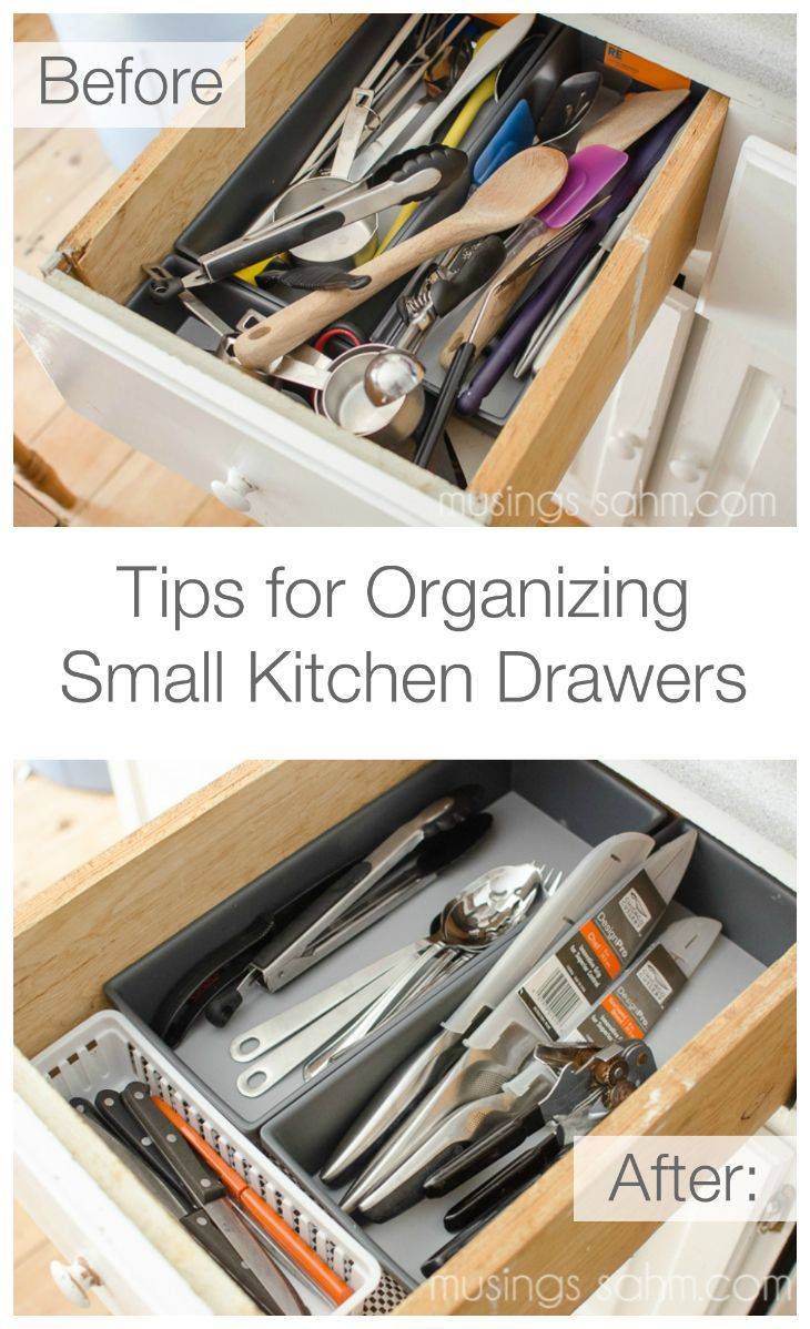 A few simple tips for organizing small kitchen utensil drawers
