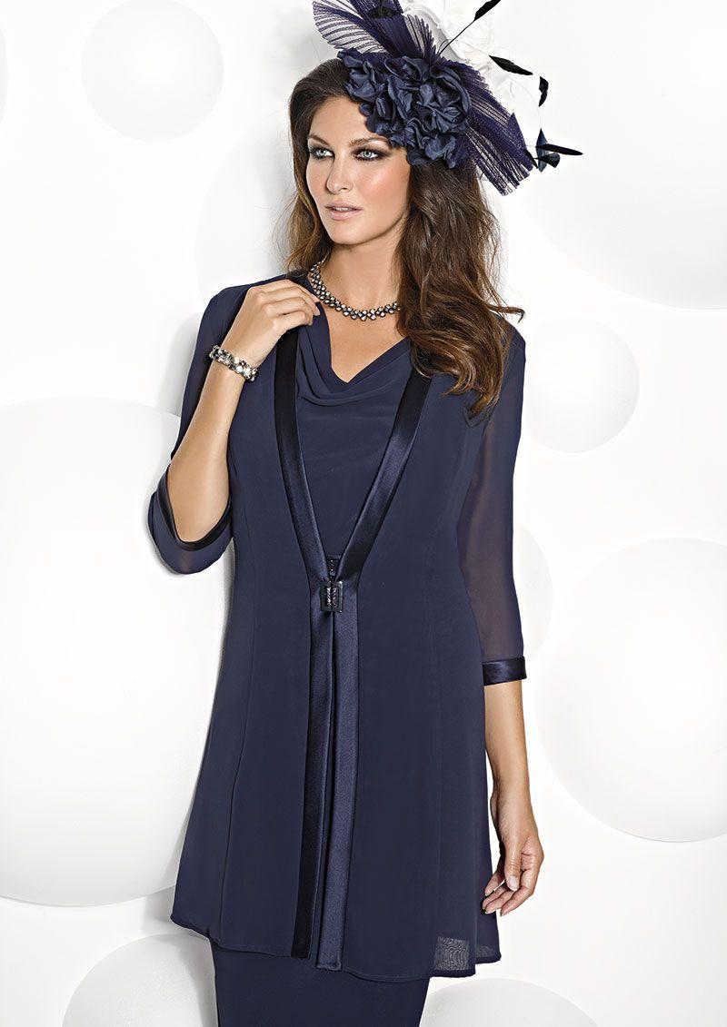 Cabotine short shift dress and chiffon coat 4993213 - Catherines ...