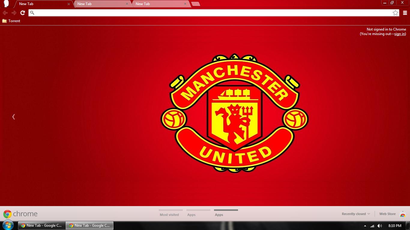 Google chrome themes juventus - Manchester United