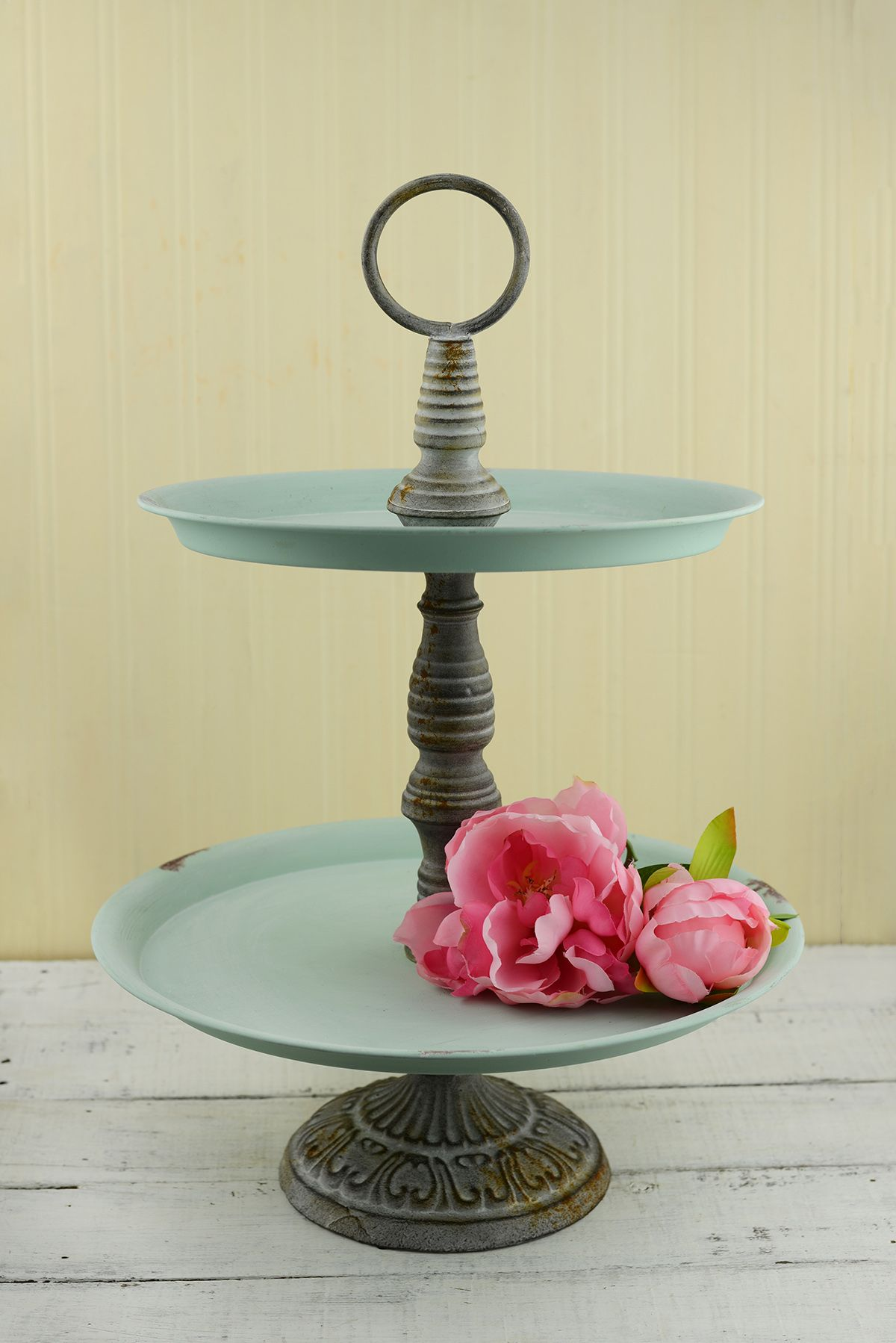 Mint 2Tier Stand. Use it to display wedding guest favors