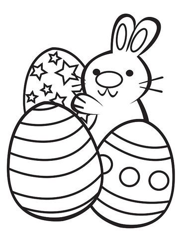 Printable Spring Coloring Pages | Kindergarten, Bunny and Easter