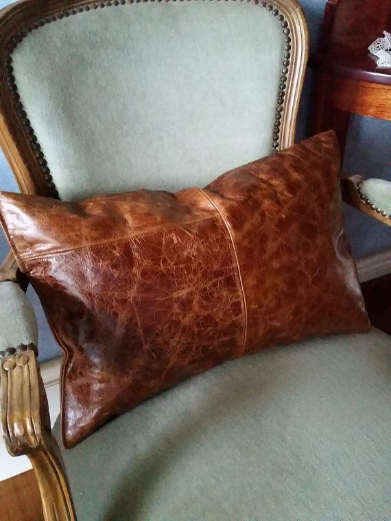 pillows width brown fit pair saddle leather a of chairish product aspect pillow height image