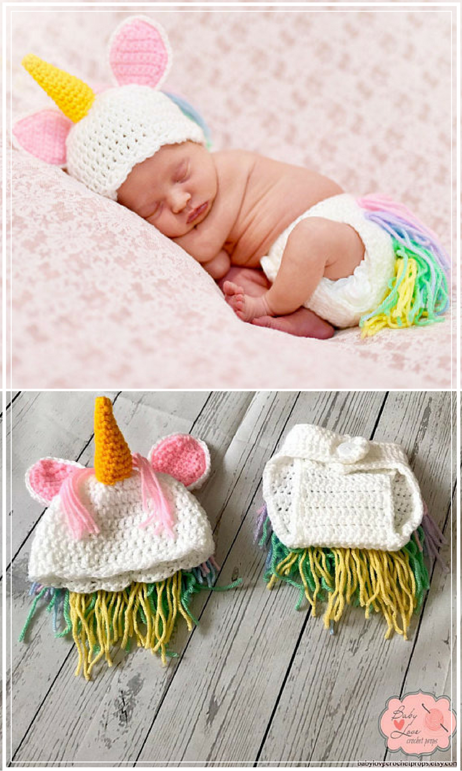 Crochet Unicorn Newborn Baby Girls Photo Photography Props Knitted Infant Hats