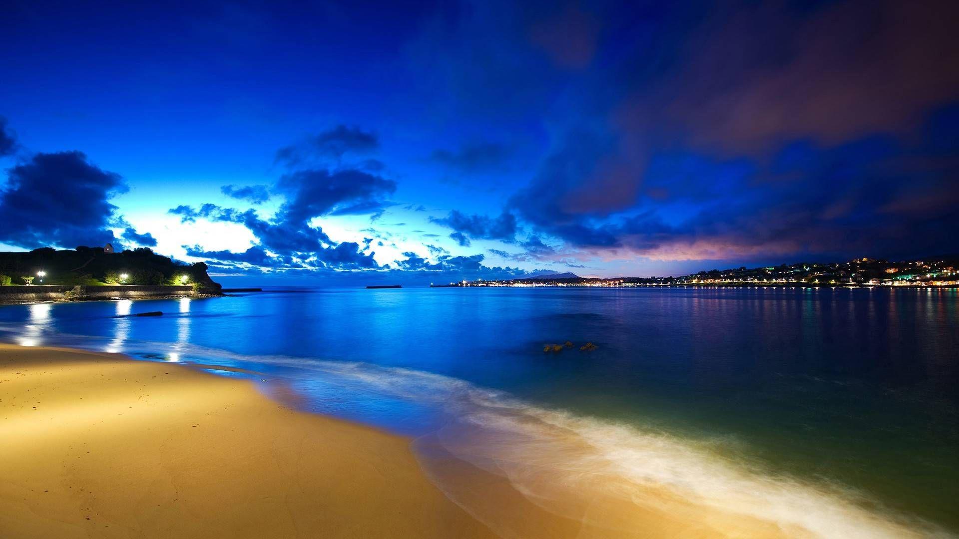 Beach Nature Scenes Nature Wallpapers 3097 Ilikewalls Com Sunset Landscape Beach Beach At Night Beach