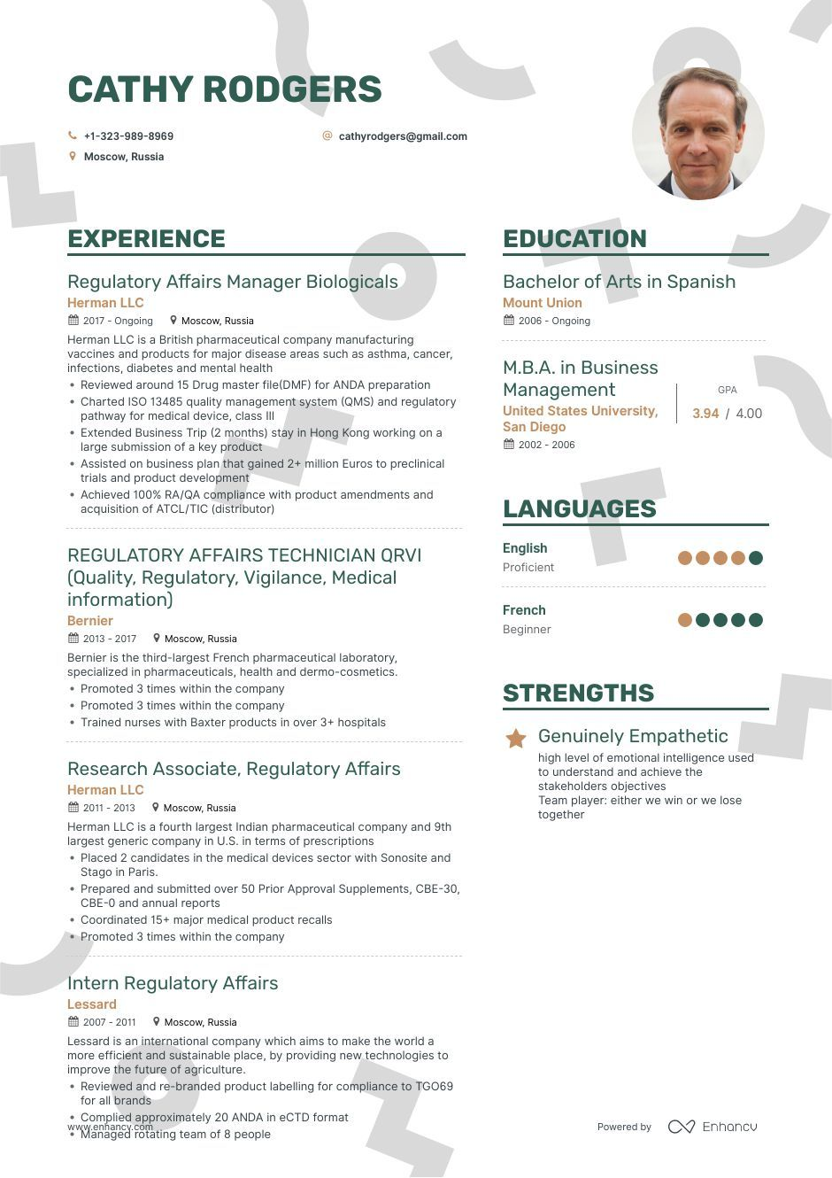 Regulatory Affairs Resume Example And Guide For 2019 Regulatory Affairs Resume Examples Regulatory