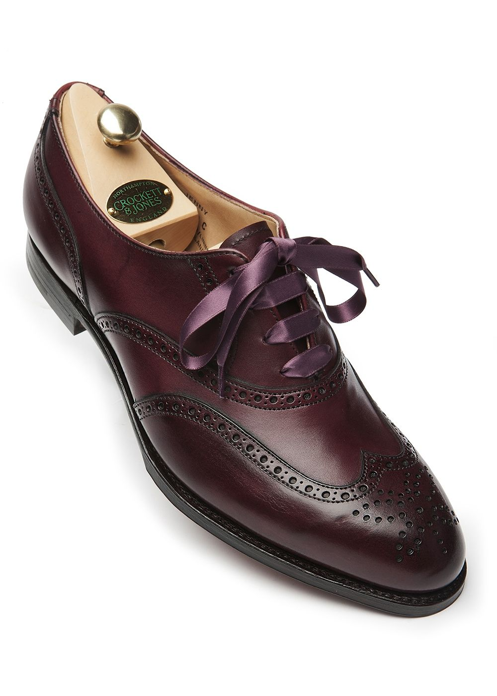 The Crockett & Jones Jenny Burgundy ladies shoe available on the Burlington  arcade http:/