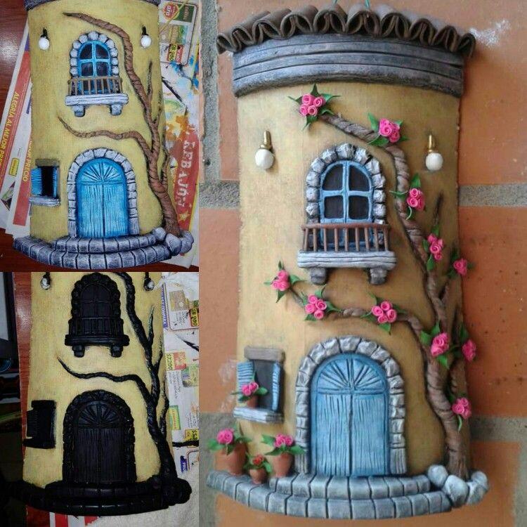 Teja decorada fachada telhas decoradas minhas e de - Como decorar tejas rusticas ...