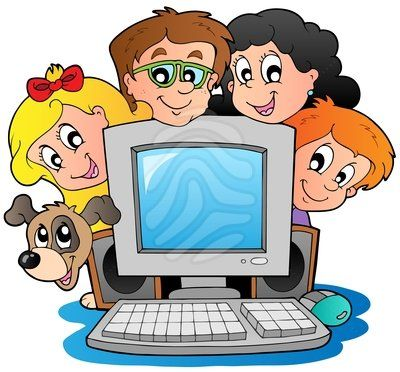 Image result for kid using computer clip art