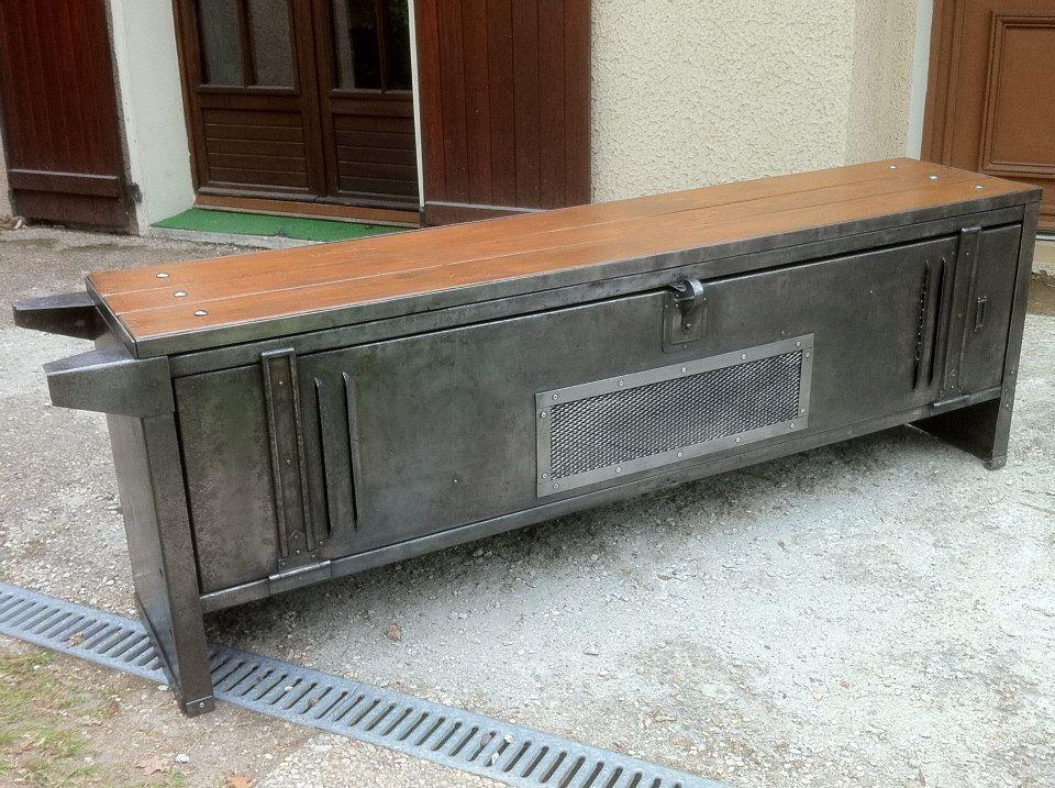 Tuto renovation decapage patine au cirage de vestiaire metal pour chambre relook en 2019 - Renovation meuble industriel ...