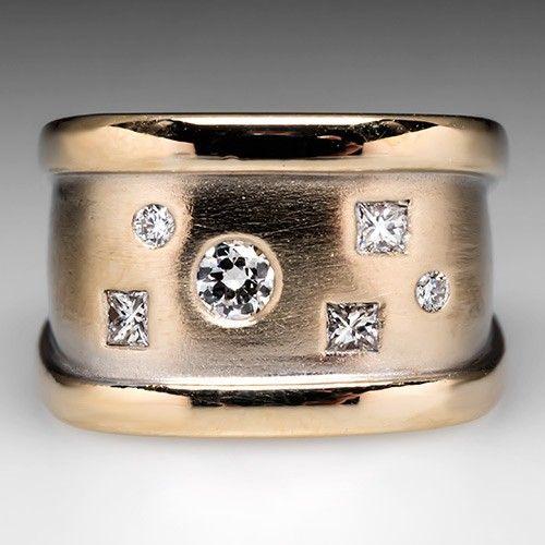 Diamond Wide Band Ring