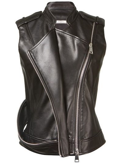 BOUCHRA JARRAR Leather Gilet