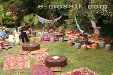 Moroccan Lounge Furniture For Rent, Outdoor Moroccan Decoration For Rent