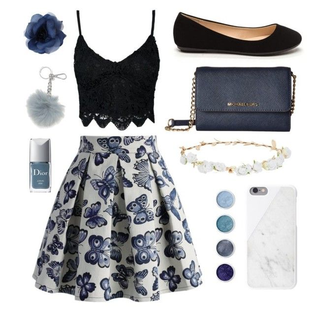 """Blue and Black Summer"" by theglitterykitten on Polyvore featuring Chicwish, MICHAEL Michael Kors, Robert Rose, Native Union, Terre Mère and Christian Dior"