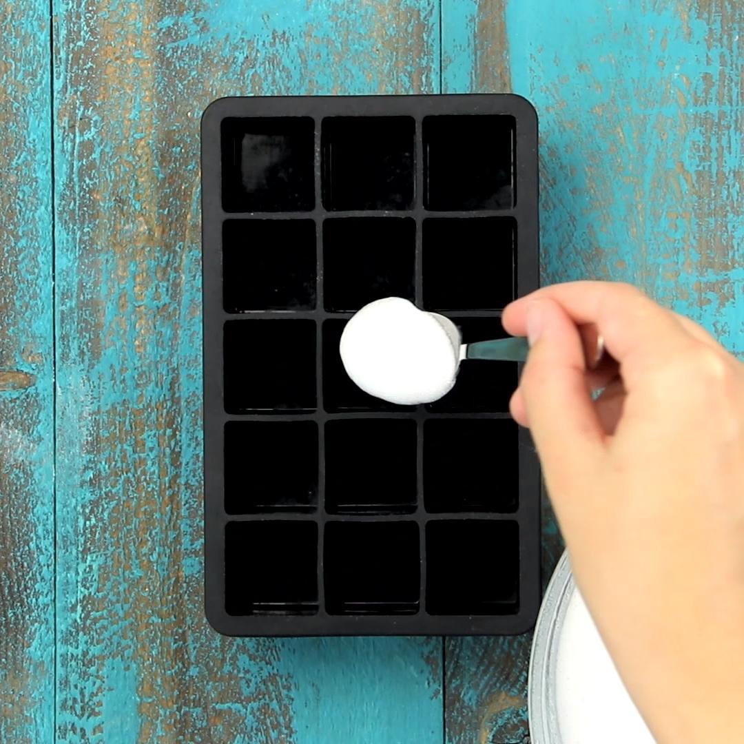Machen Sie selbst Geschirrspüler Tabs mit 4 Zutaten in