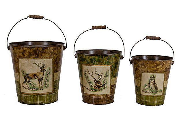 Animal Buckets, Asst. of 3 on OneKingsLane.com