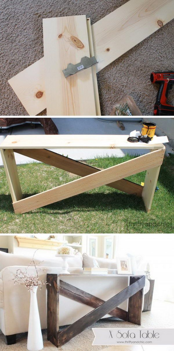 Stylish And Simple Diy Sofa Table Diy Sofa Diy Console Table
