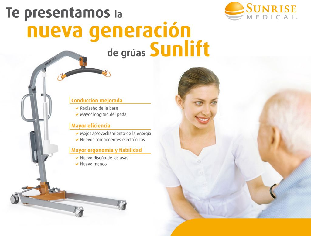 disponemos de las nuevas gruas Sunlift Mejoradas en http://www.ortopediaenlinea.com