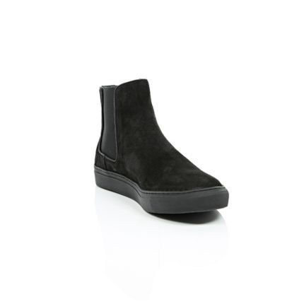 Black suede flat sole Chelsea boots - trainers / hi tops - shoes / boots -