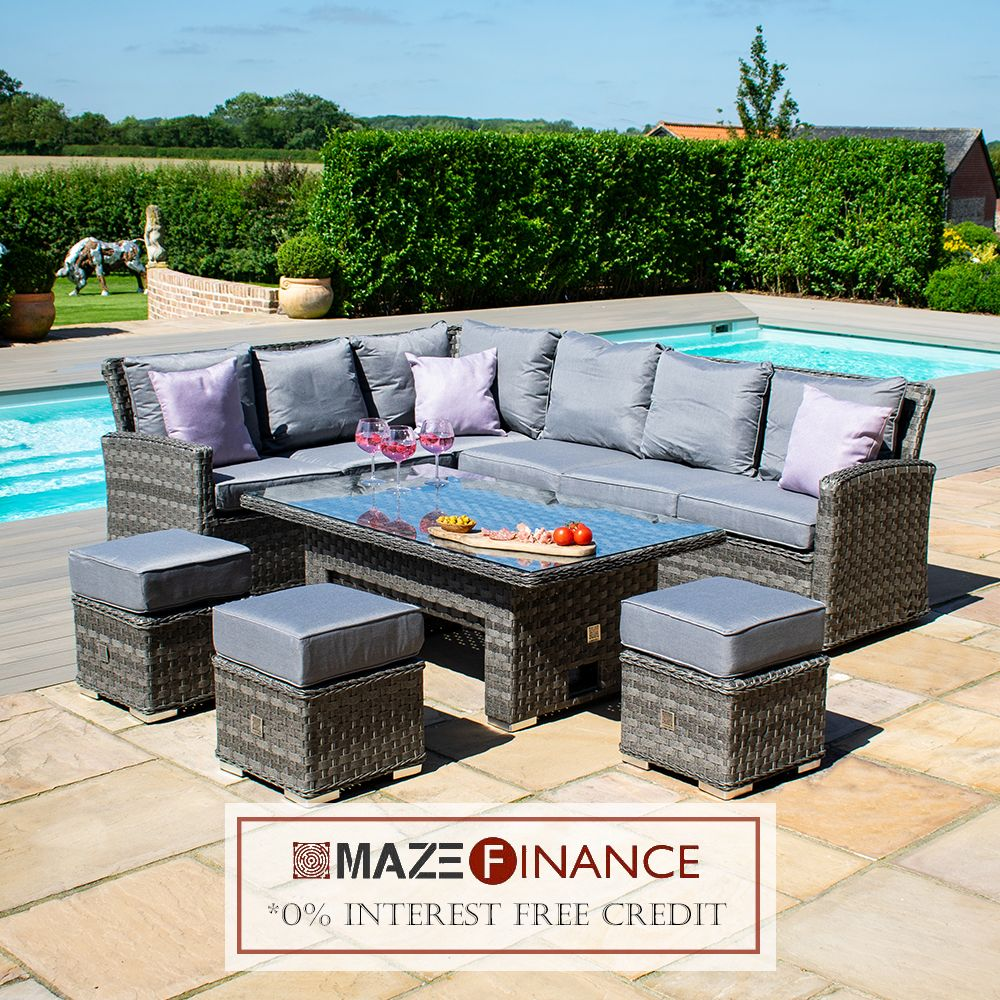 Maze Finance Now Available Making Your Luxury Garden Furniture More Affordable Shop Online At Www Mazel In 2020 Corner Dining Set Luxury Garden Furniture Maze Rattan