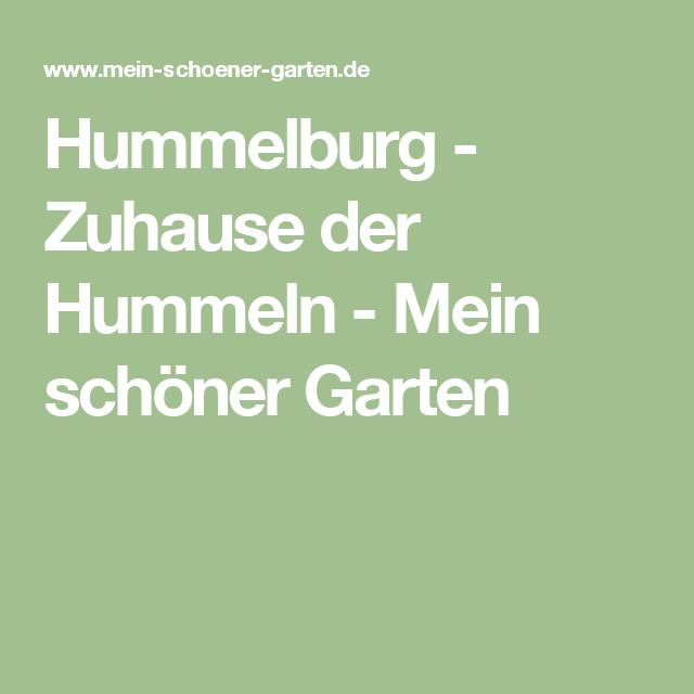 Hummelburg - Zuhause der Hummeln - Mein schöner Garten