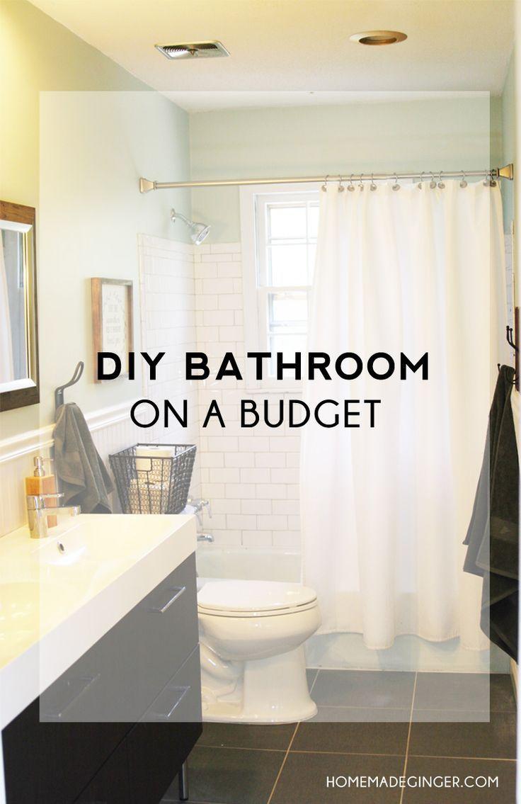 Diy Bathroom On A Budget Budget Bathroom Remodel Diy Bathroom