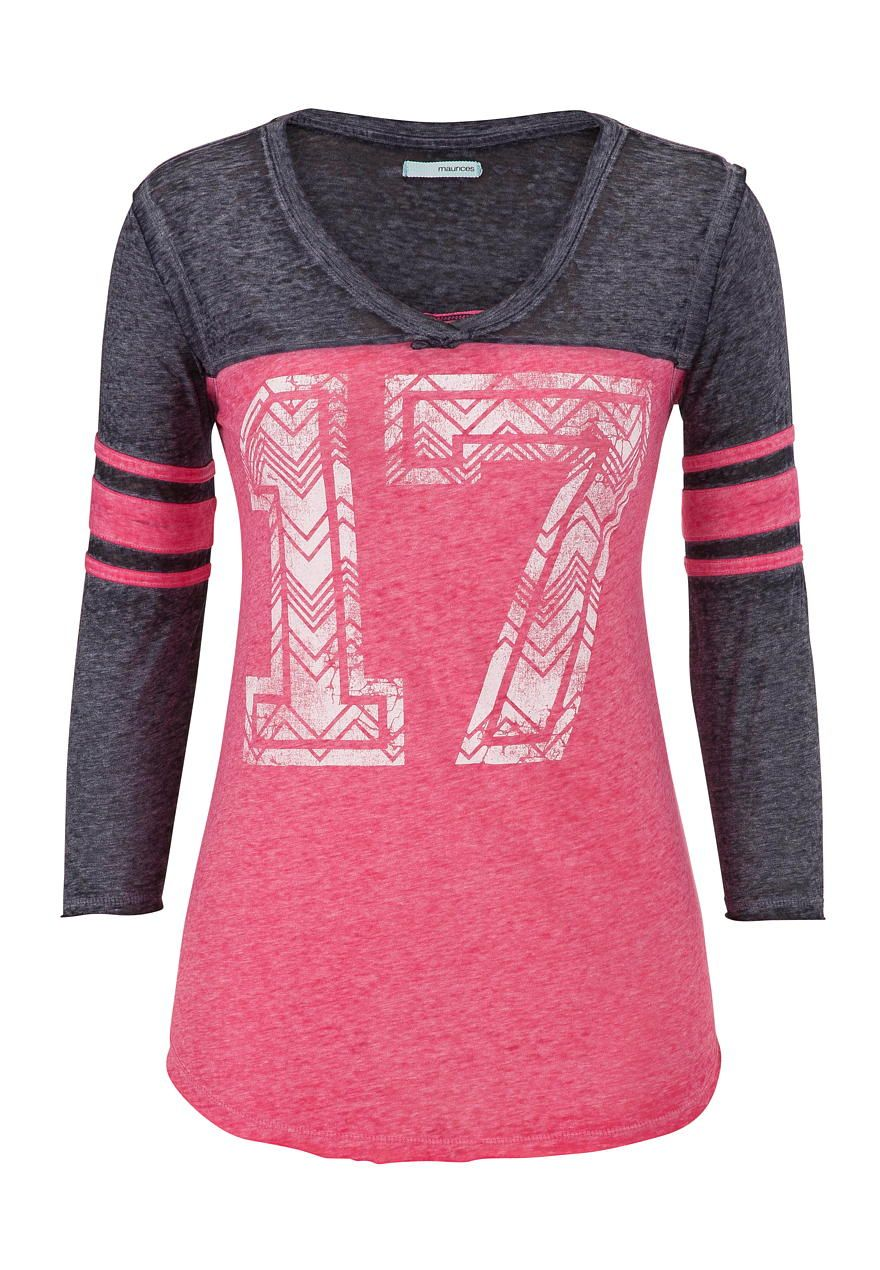 Graphic burnout baseball tee maurices my bff pinterest