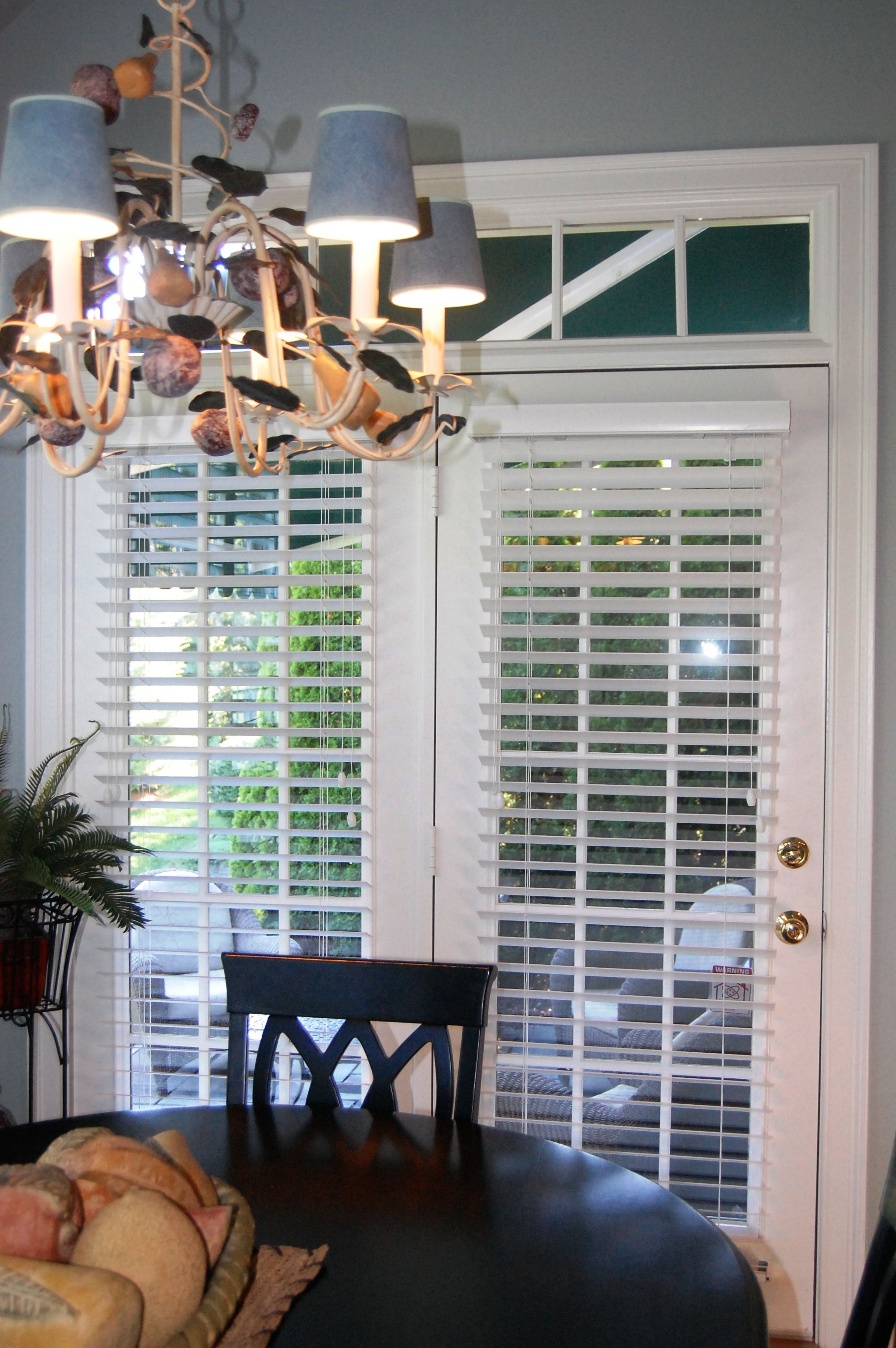 French Door Blinds Woodblinds Blinds Amp Shades