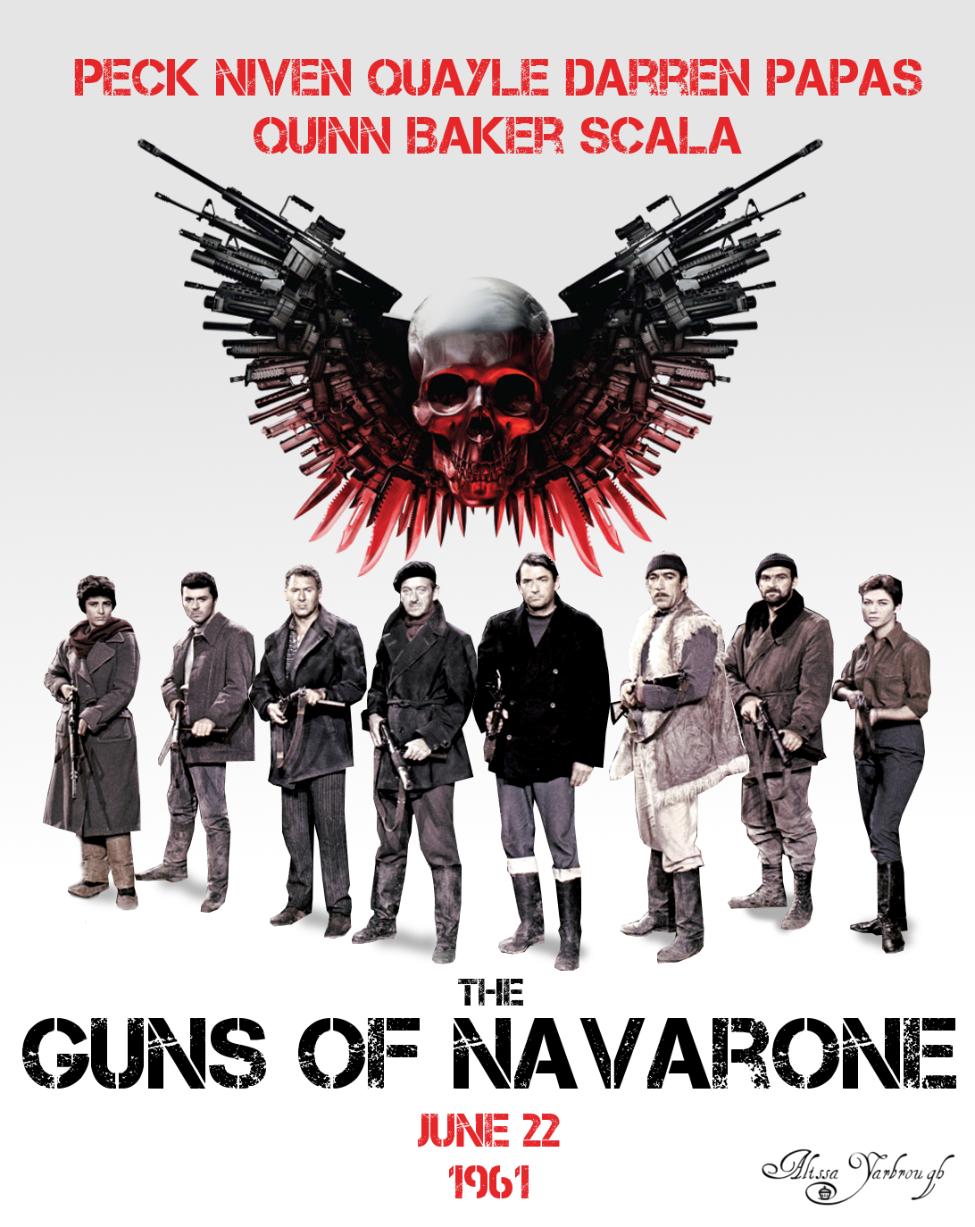 Poster design gimp - The Guns Of Navarone The Expendables Poster