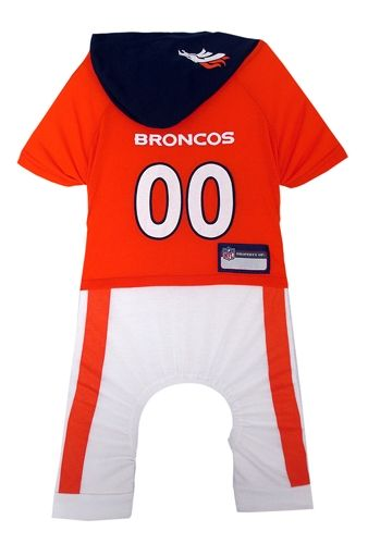 DENVER BRONCOS CHEERLEADER DOG DRESS OUTFIT ALL SIZES LICENSED NFL PETS  FIRST 82ca4d002
