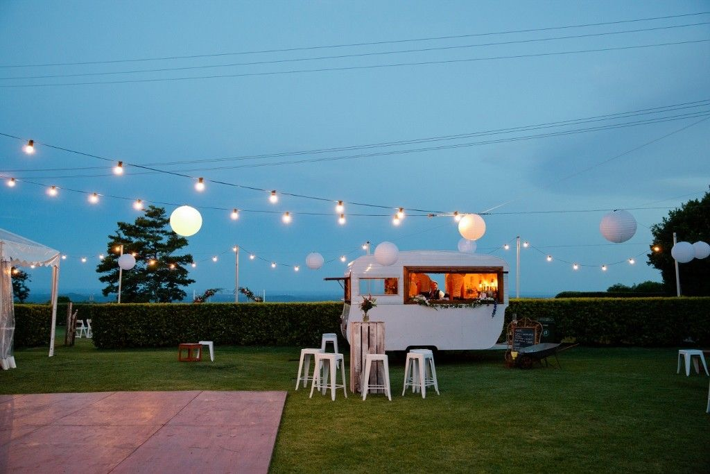 Mobile Caravan Bar Vintage Wedding Hire