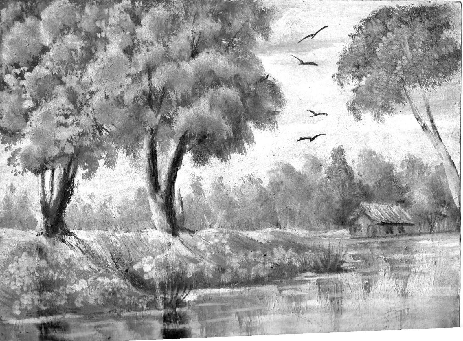 Resultado De Imagen Para Pinturas Negro Y Blanco Bocetos Dibujo