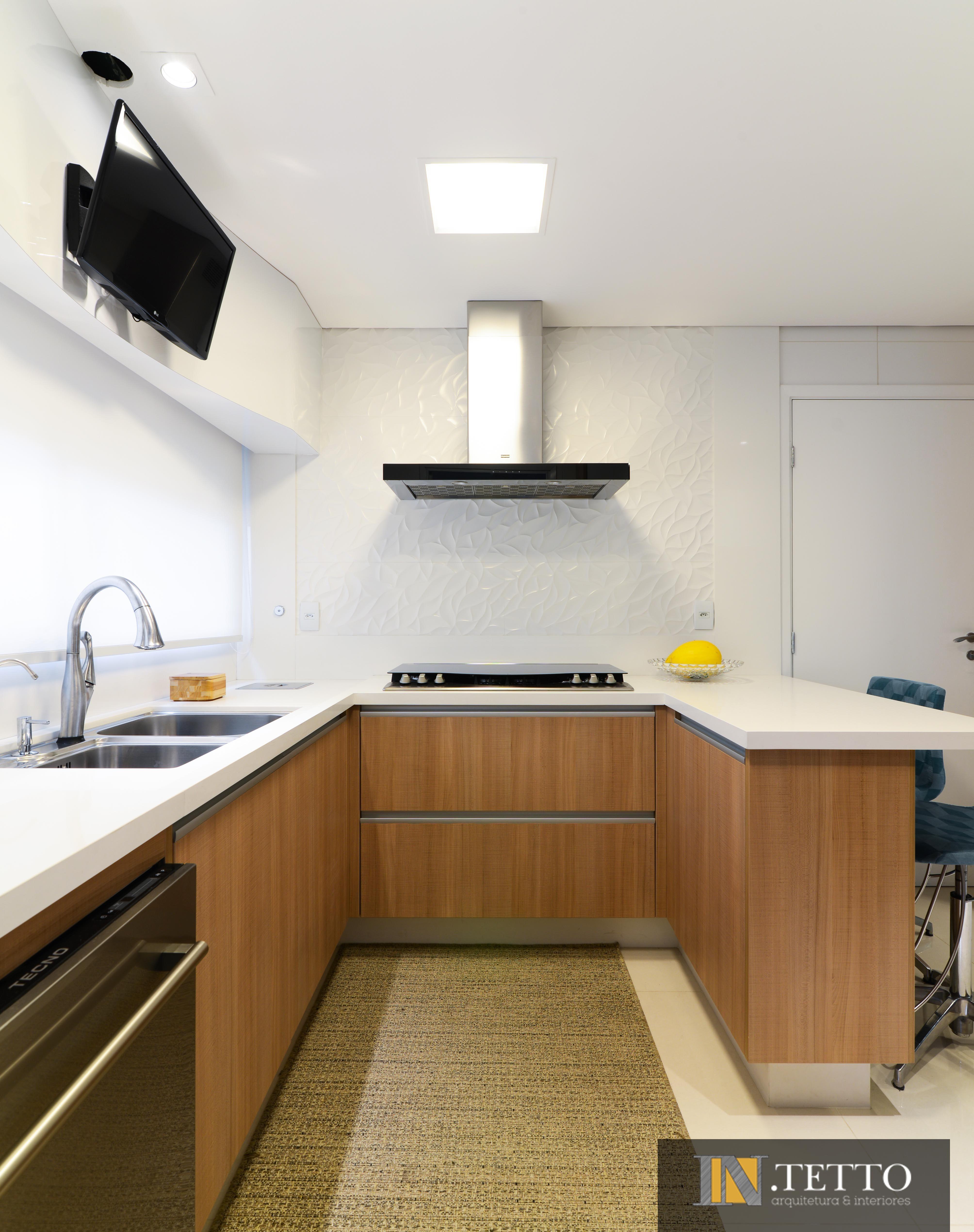 Uma Cozinha Moderna Mega Personalizada Com A Predomin Ncia Do Uso