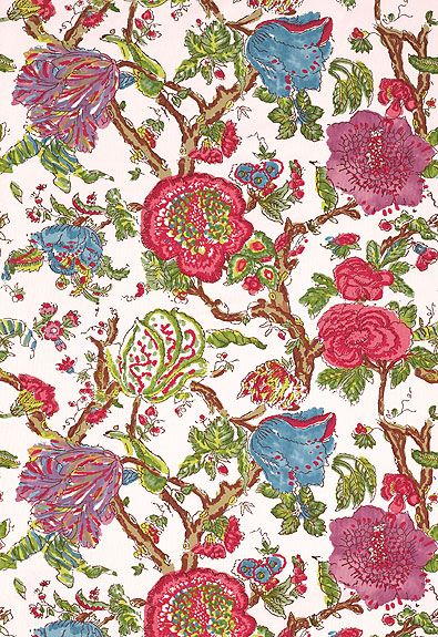 Pondicherry Azalea Fabric By Schumacher Finished In France