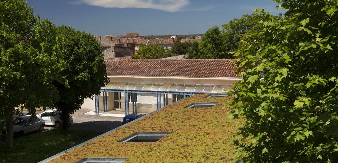 Construction D Un Preau Au Lycee Jaufre Rudel A Blaye 33 Cityzen Architectes 0556303781 Preau Architecte Construction