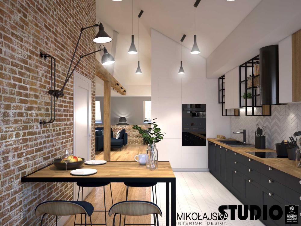 Kuchnia Na Poddaszu Wykorzystanie Przestrzeni Wybor Plytek I Oswietlenia Ih Internity Home Kitchen Projects Design Home Interior Design Interior Design Kitchen