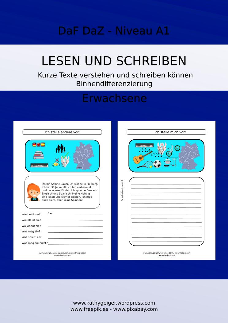 lesen und schreiben f r erwachsene f r deutsch als fremdsprache daf daz niveau a1 daz daf. Black Bedroom Furniture Sets. Home Design Ideas