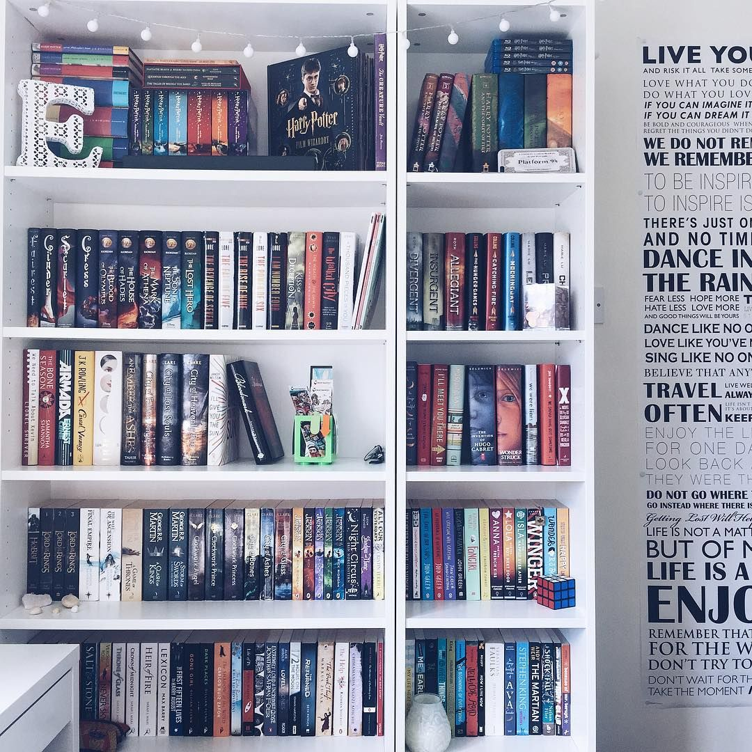 This Bookshelf I Love Because It Is Not Too Decorated And Has Some Of My Faves