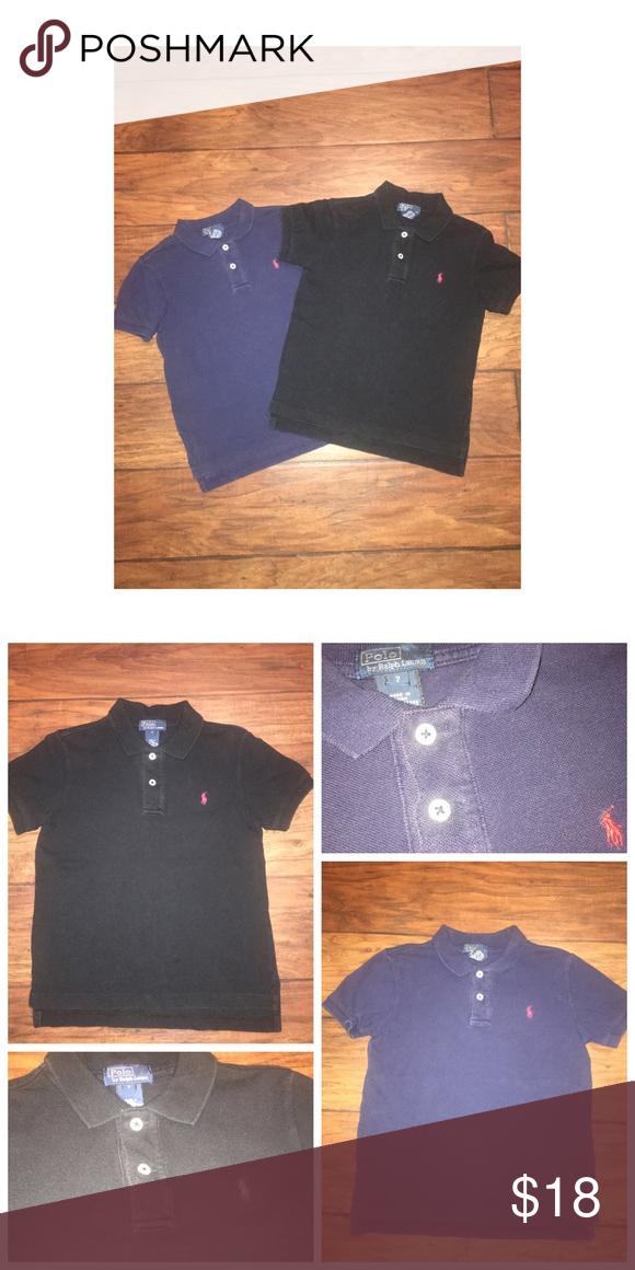 Ralph Lauren 2PC Lot Pre•loved Ralph Lauren 2PC Bundle • Size 7 • Made of 100% Cotton • Both polos are in good condition, normal signs of wash and wear • Colors are accurate, no filter used Ralph Lauren Shirts & Tops Polos