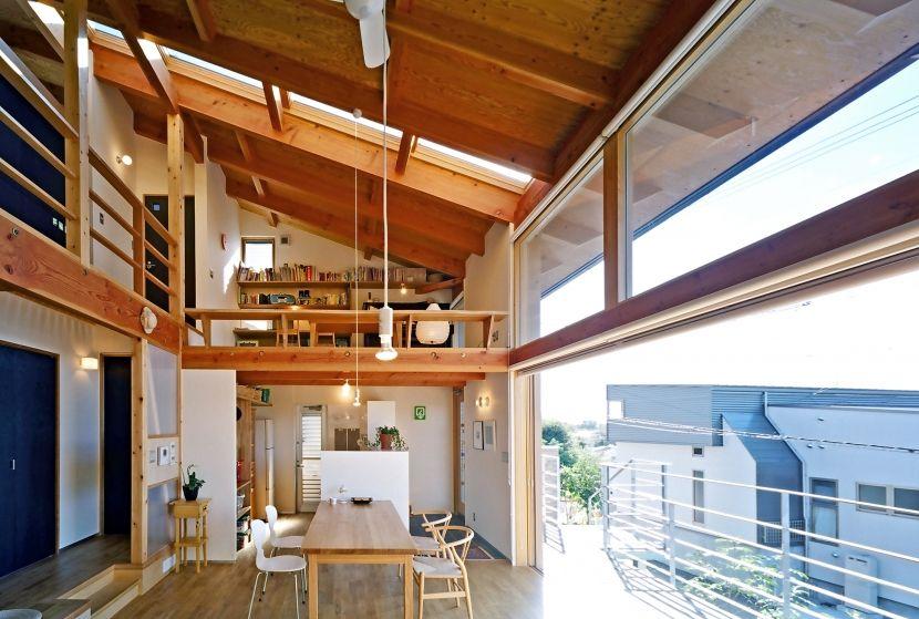 垂れ壁なしの 大きい窓 いい ホームデコレーション 家 住宅 間取り