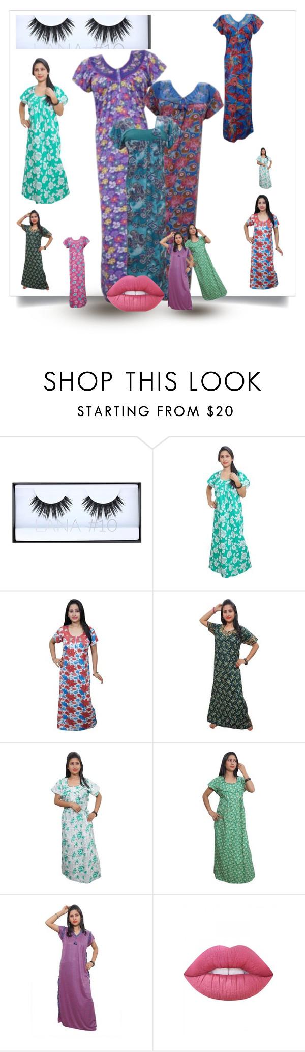 NIGHWEAR MAXI DRESS by globaltrendzs-flipkart on Polyvore featuring Lime Crime  http://www.polyvore.com/cgi/set?id=199505027  #nighty #womensnighty #maxi #nightwear #nightgown #nightdress #summer #sleepwear #fashion