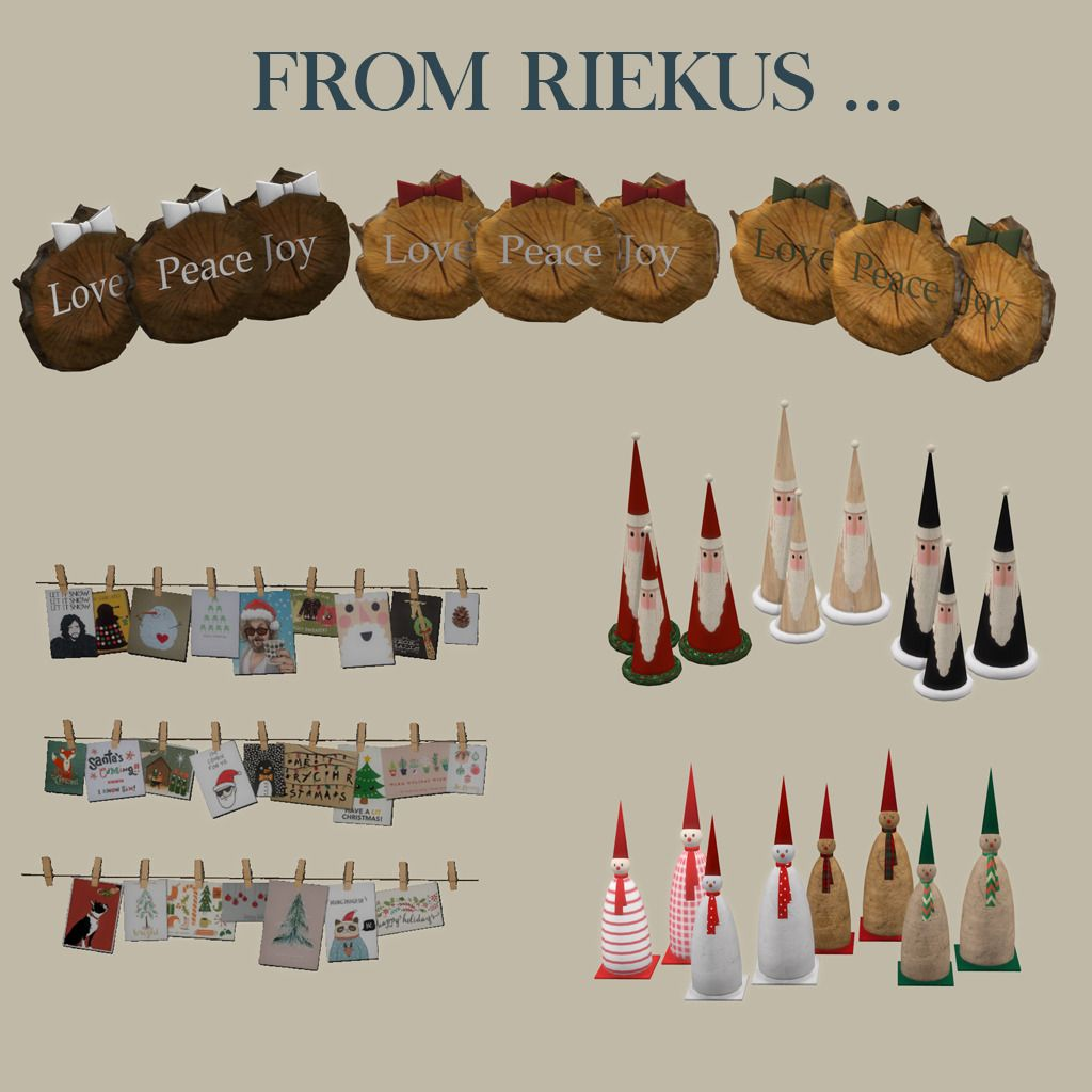 Christmas Decorations On Sims 3: Lana CC Finds - From Riekus By Leosims