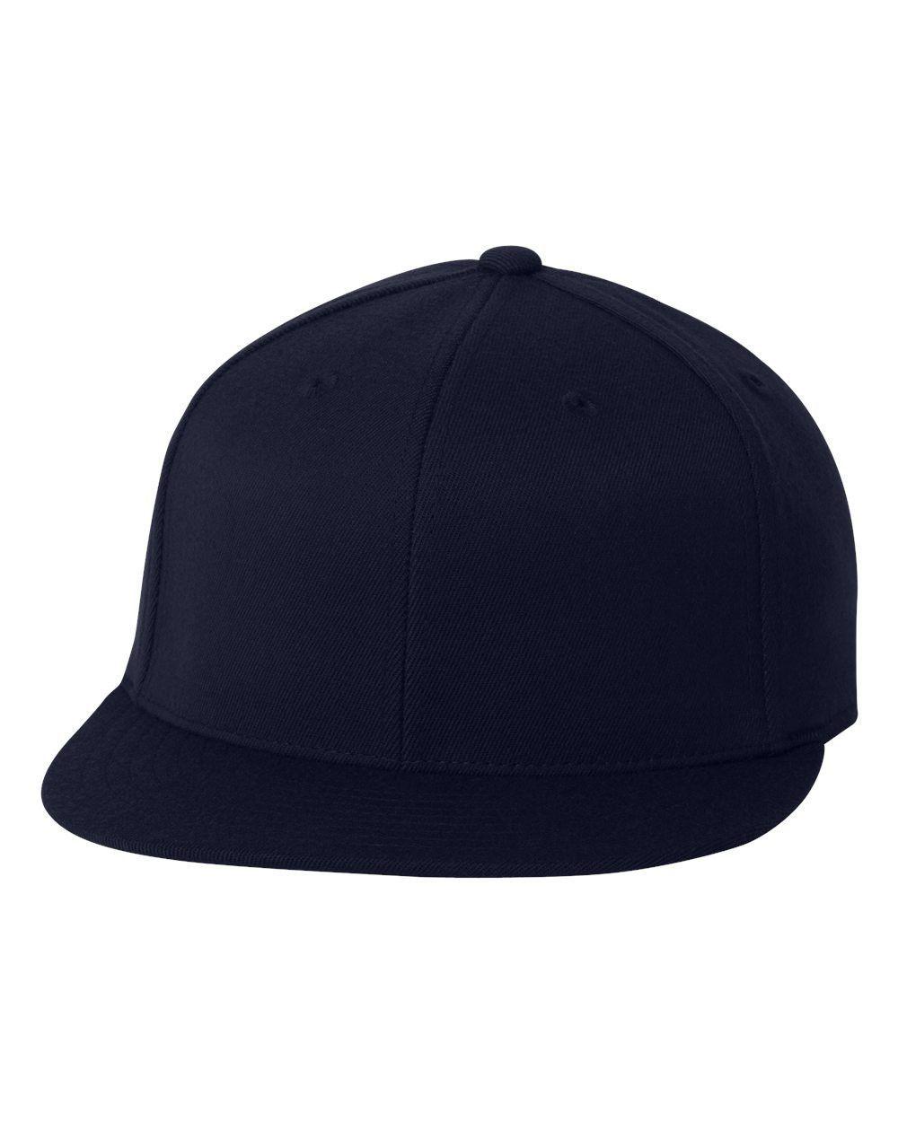 6aaf49ea69834 Flexfit - Flat Bill Cap - 6210Ff Dark Navy