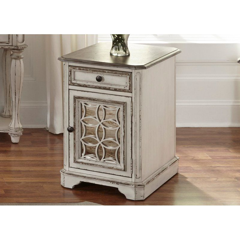 Antique White Chair Side Table Magnolia Manor Chair Side Table